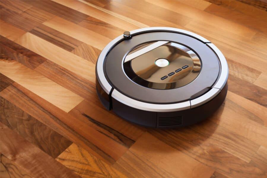 Robot hút bụi thường có dạng hình tròn để dễ dàng di chuyển và tránh va chạm
