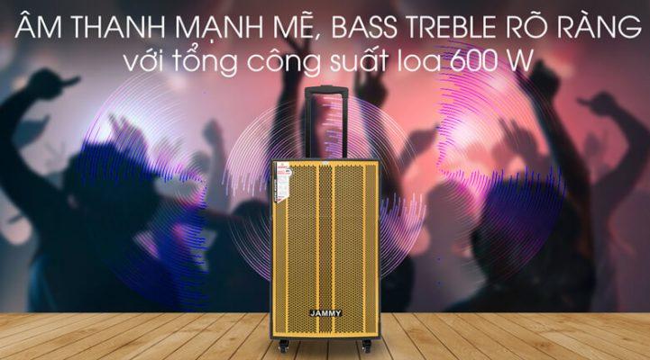 Loa kéo Karaoke Jammy AM4218 600W 4