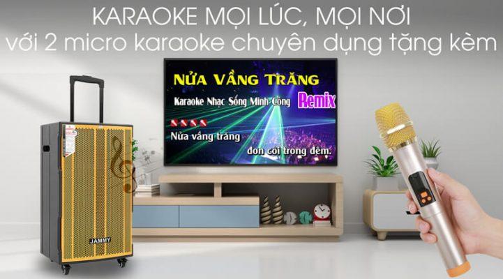 Loa kéo Karaoke Jammy AM4218 600W 6