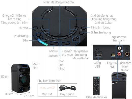 Dàn âm thanh Hifi Sony MHC V02 1