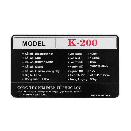 loa-karaoke zenbos K 200 600W ava 12