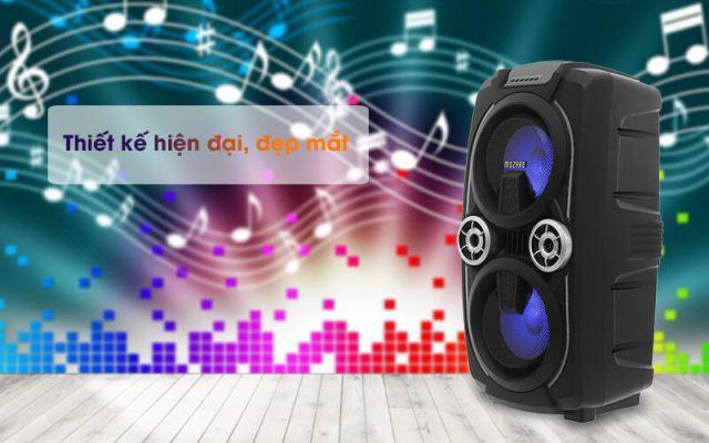 Loa Kéo Bluetooth Mozard L0629K Đen Xám 2