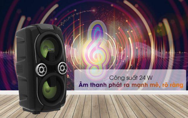 Loa Kéo Bluetooth Mozard L0629K Đen Xám 3