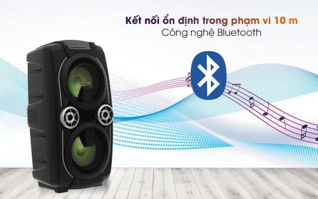Loa Kéo Bluetooth Mozard L0629K Đen Xám 5