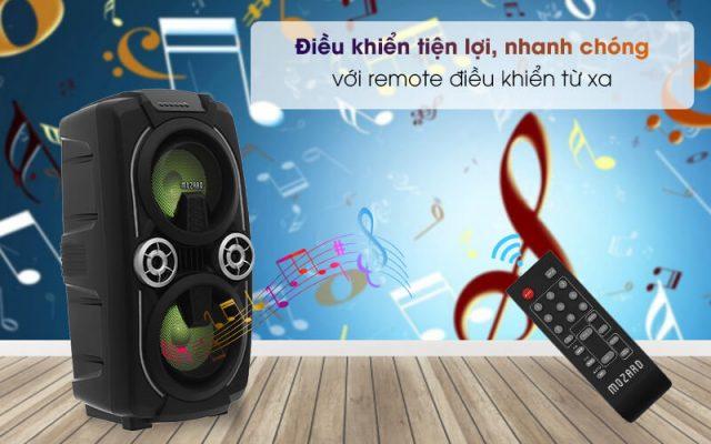 Loa Kéo Bluetooth Mozard L0629K Đen Xám 8