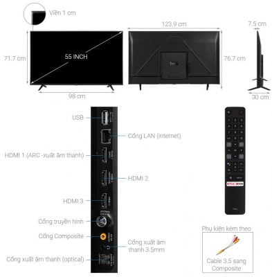 Android Tivi TCL 4K 55 inch 55P615 1
