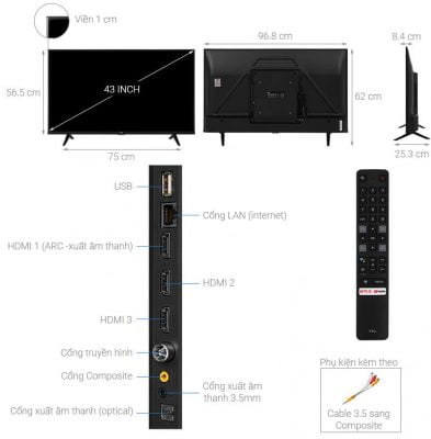 Android Tivi TCL 4K 43 inch 43P615 1
