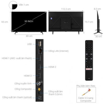 Android Tivi TCL 4K 50 inch 50P615 1
