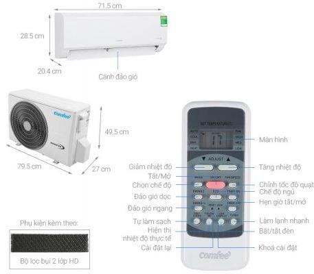 Máy lạnh Comfee Inverter 1 HP SIRIUSA 9ED 1