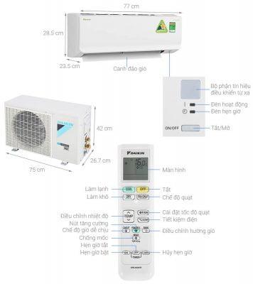 Máy lạnh Daikin Inverter 1 HP ATKA25UAVMV 1
