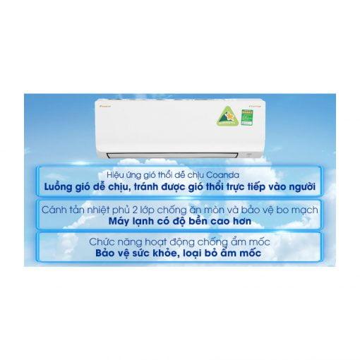Máy lạnh Daikin Inverter 1 HP ATKA25UAVMV ava 7