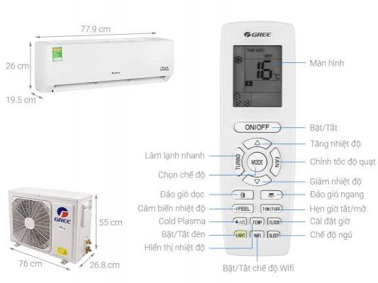Máy lạnh Gree Inverter 1 HP GWC09PB K3D0P4 1