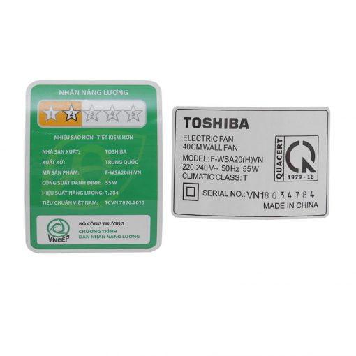 Quạt treo Toshiba F WSA20 ava 7