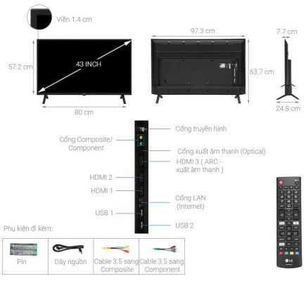 Smart Tivi LG 4K 43 inch 43UN7000PTA 1