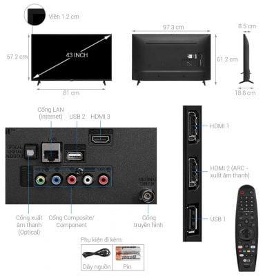 Smart Tivi LG 4K 43 inch 43UN7290PTF 1