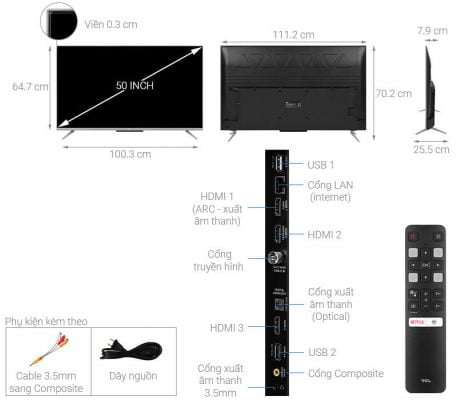 Android Tivi TCL 50 inch 50P715 1