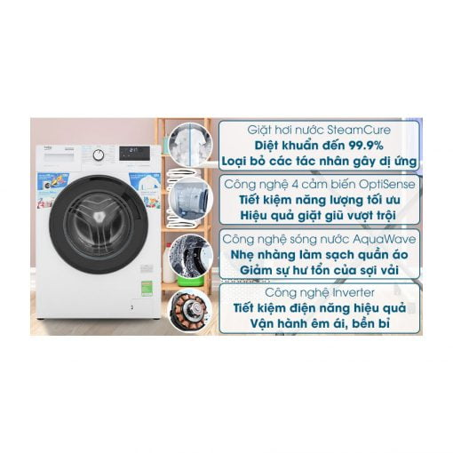 máy giặt Beko Inverter 10 kg WCV10612XB0ST ava 9