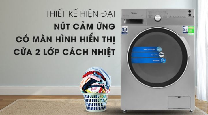 Máy giặt Midea Inverter 8.5 Kg MFK85 1401SK 2