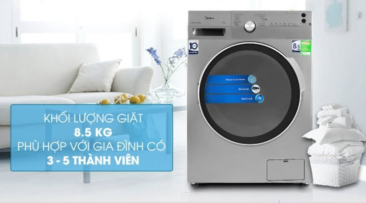 Máy giặt Midea Inverter 8.5 Kg MFK85 1401SK 3