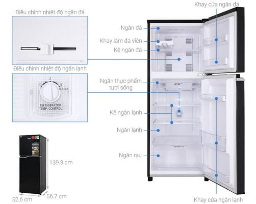 Tủ lạnh Panasonic Inverter 188 lít NR-BA229PKVN 1