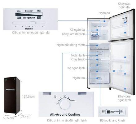 tủ lạnh Samsung Inverter 236 lít RT22M4032BY SV 1
