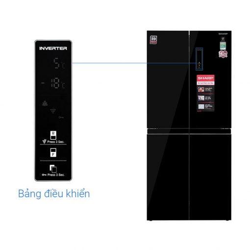 Tủ lạnh Sharp Inverter 401 lít SJ FXP480VG BK ava 10