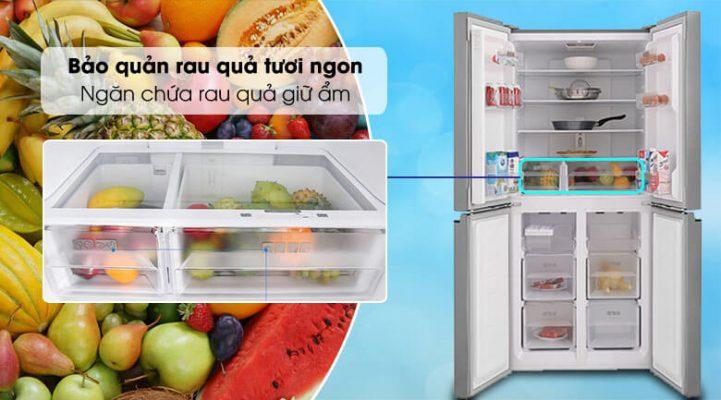 Tủ lạnh Sharp Inverter 401 lít SJ-FXP480V SL 1 0