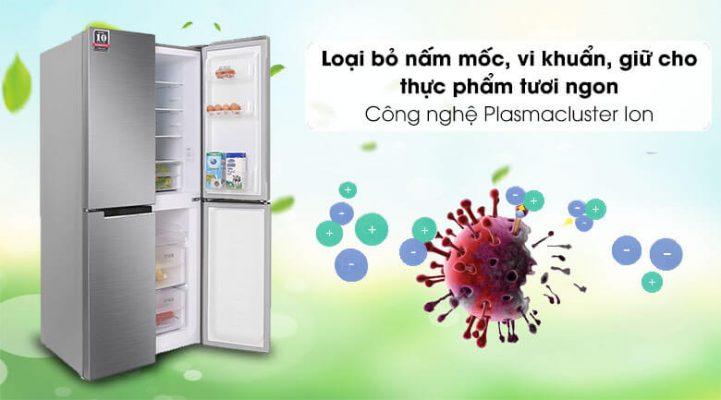 Tủ lạnh Sharp Inverter 401 lít SJ-FXP480V SL 2