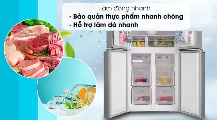 Tủ lạnh Sharp Inverter 401 lít SJ-FXP480V SL 3