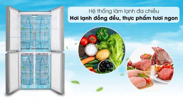 Tủ lạnh Sharp Inverter 401 lít SJ-FXP480V SL 4