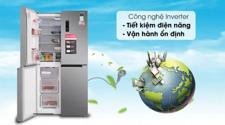 Tủ lạnh Sharp Inverter 401 lít SJ-FXP480V SL 5