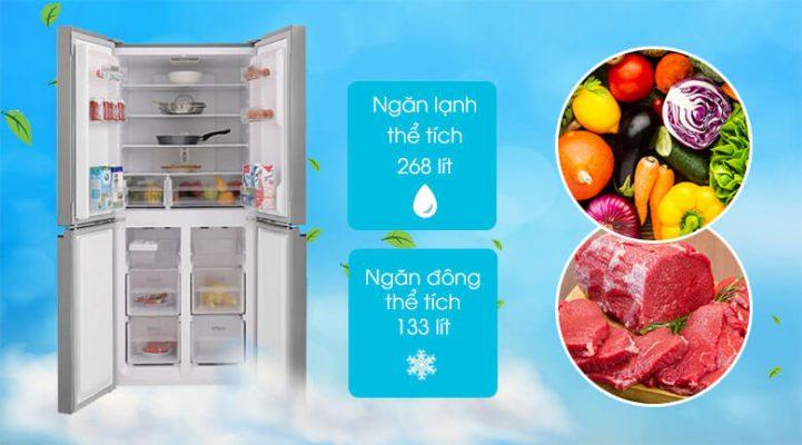 Tủ lạnh Sharp Inverter 401 lít SJ-FXP480V SL 7