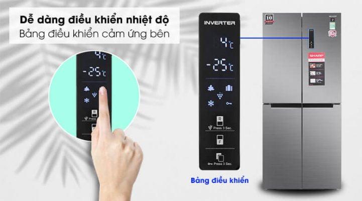 Tủ lạnh Sharp Inverter 401 lít SJ-FXP480V SL 8