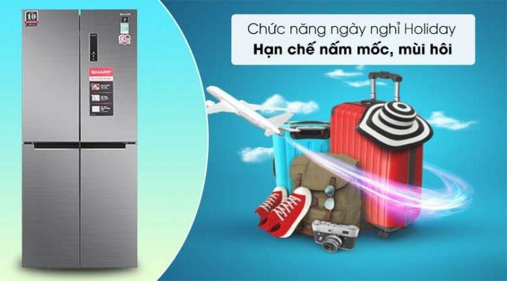 Tủ lạnh Sharp Inverter 401 lít SJ-FXP480V SL 9