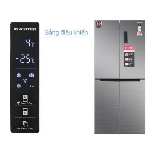 Tủ lạnh Sharp Inverter 401 lít SJ-FXP480V SL ava 10